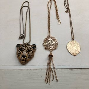 Big bling necklace lot of 3